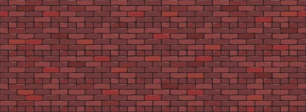 Fond de texture de mur de brique. illustration numérique de brickwall de couleur rouge.