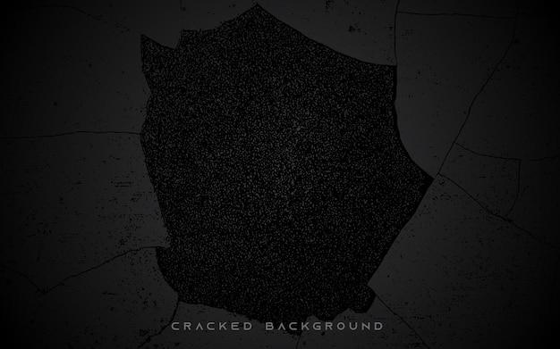 Fond de texture de mur fissuré noir