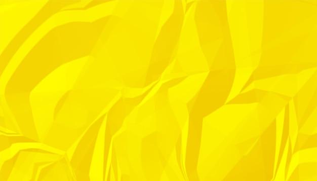 Fond de texture de papier froissé froissé jaune vif