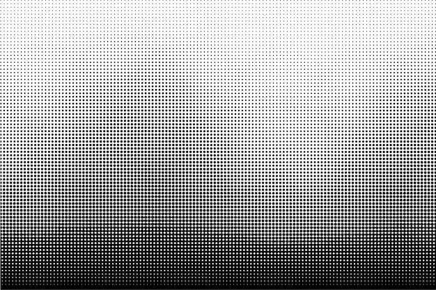 Fond de texture de points de demi-teintes noir et blanc