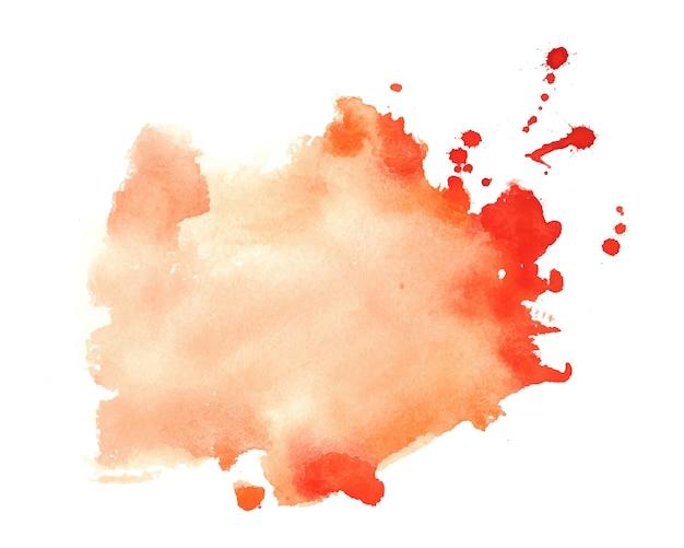 Fond de texture tache aquarelle éclaboussure orange