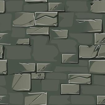 Fond de texture d'un vieux mur de pierre. modèle sans couture de mur gris sale.
