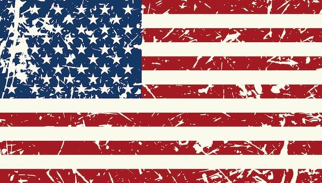 Fond texturé vintage drapeau américain