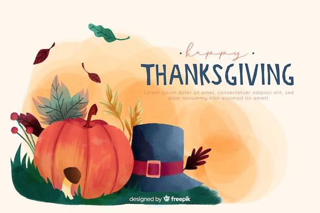 Fond de thanksgiving à l'aquarelle