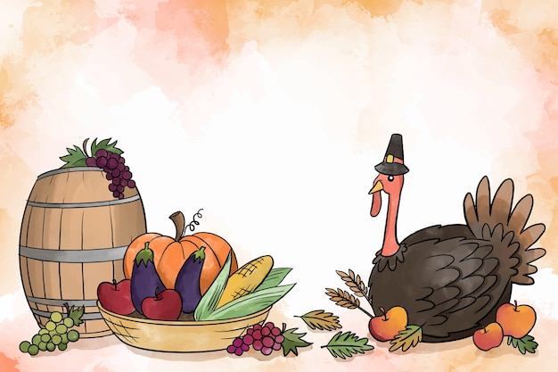 Fond de thanksgiving aquarelle