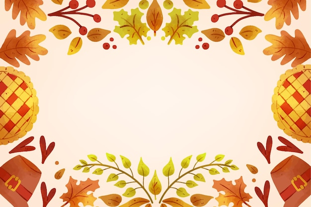 Fond de thanksgiving aquarelle