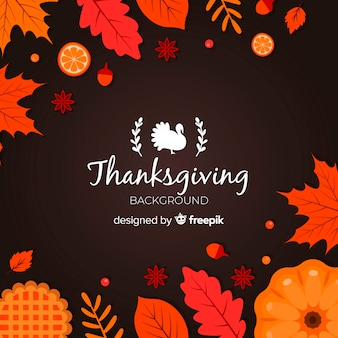 Fond de thanksgiving au design plat
