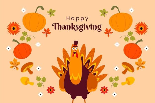 Fond de thanksgiving au design plat