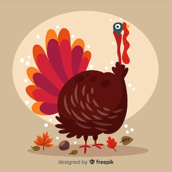 Fond de thanksgiving day design plat avec la turquie