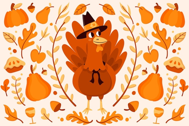 Fond de thanksgiving design plat
