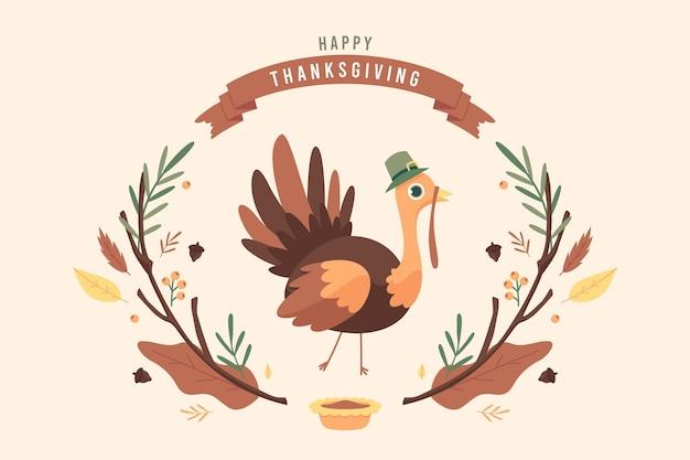 Fond de thanksgiving design plat