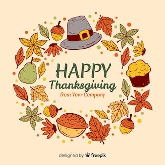 Fond de thanksgiving dessiné main belle