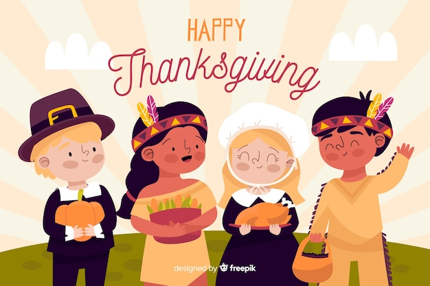 Fond de thanksgiving dessiné à la main