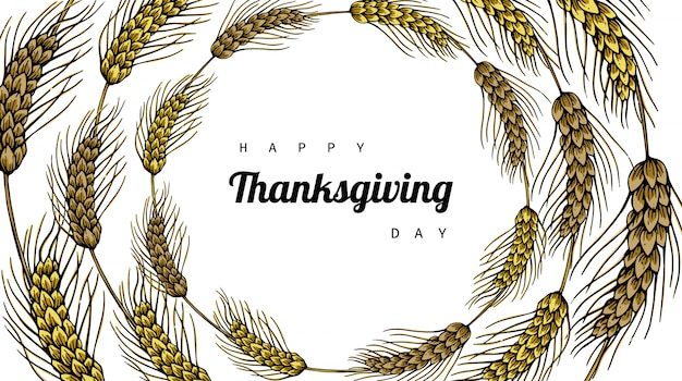 Fond de thanksgiving avec fleur et feuille
