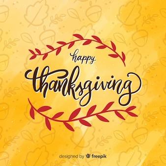 Fond de thanksgiving avec lettrage