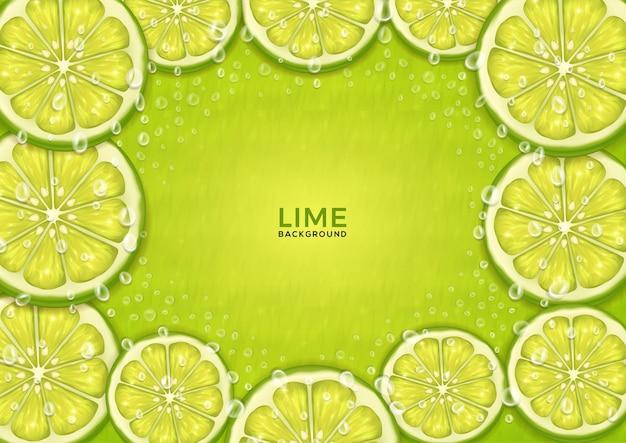 Fond de thème citron vert