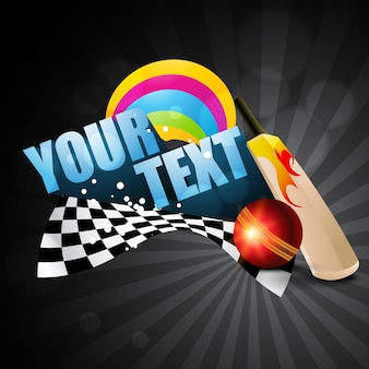 Fond de thème cricket avec espace pour votre texte
