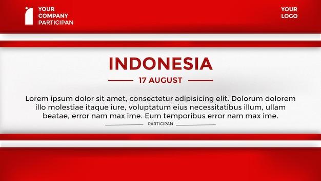 Fond de thème de la fête de l'indépendance indonésienne