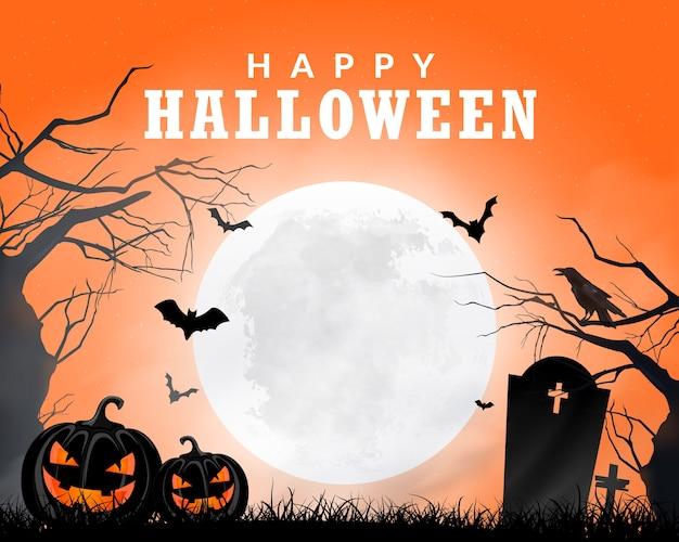 Fond de thème halloween