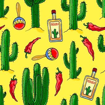 Fond sur le thème mexicain