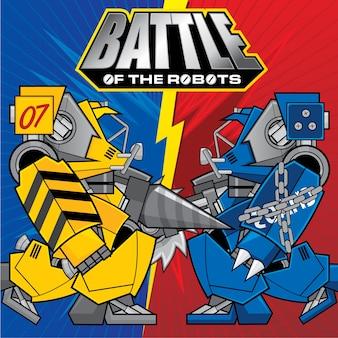 Fond avec le thème the of battles robots