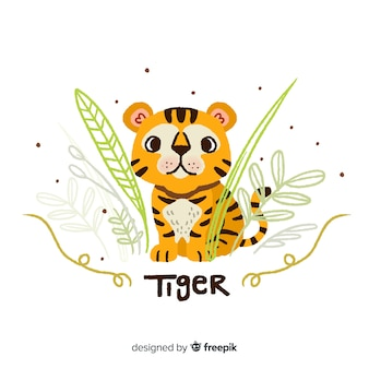 Fond de tigre adorable