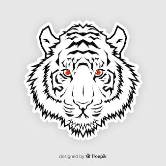 Fond de tigre aux yeux rouges