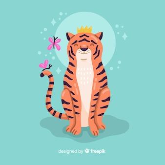 Fond de tigre mignon
