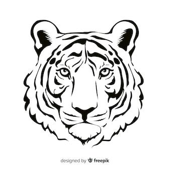 Fond de tigre réaliste