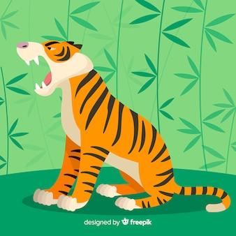 Fond de tigre rugissant