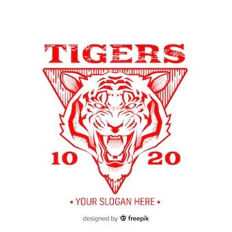 Fond de tigre de slogan