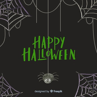 Fond de toile d'araignée halloween heureux