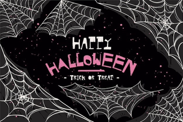Fond de toile d'araignée joyeux halloween