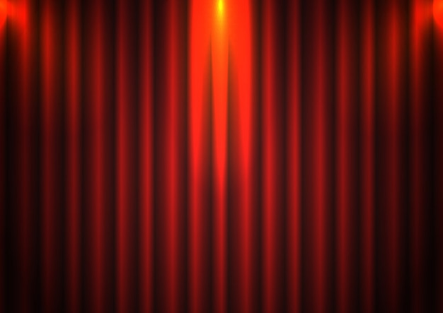 Fond de toile de fond rideau rouge