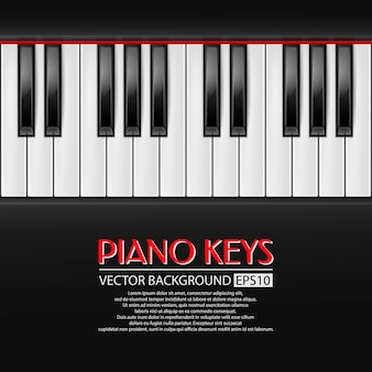 Fond de touches de piano