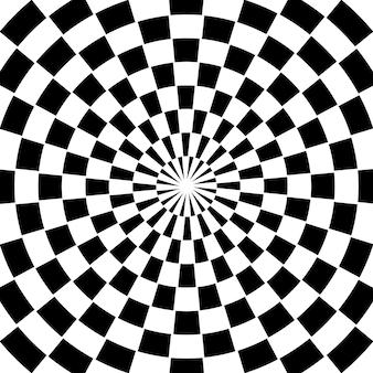 Fond de tourbillon en spirale à carreaux