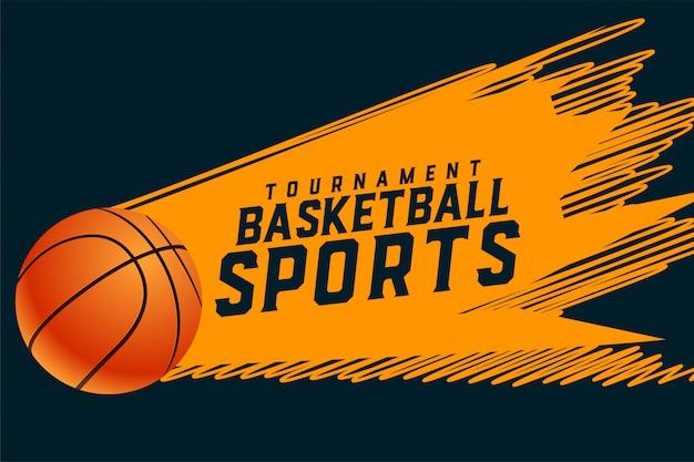 Fond de tournoi de basket-ball de style sportif abstrait