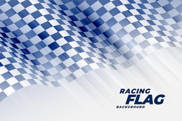 Fond de tournoi de drapeau de course abstrait