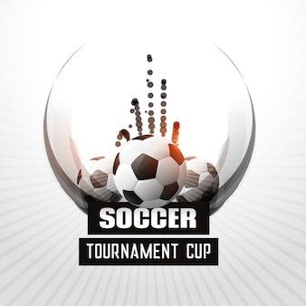 Fond de tournoi de football abstrait