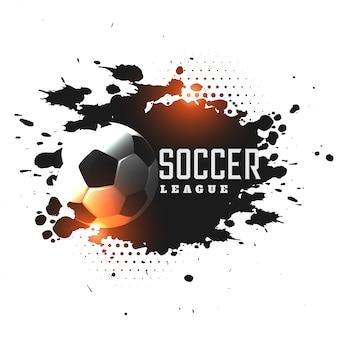 Fond de tournoi de ligue de football abstract grunge