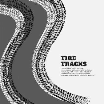 Fond de traces d'impression des traces de pneus