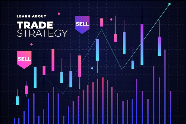 Fond de trading forex avec graphique
