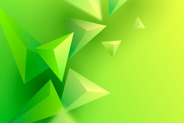 Fond de traingle 3d aux couleurs vives
