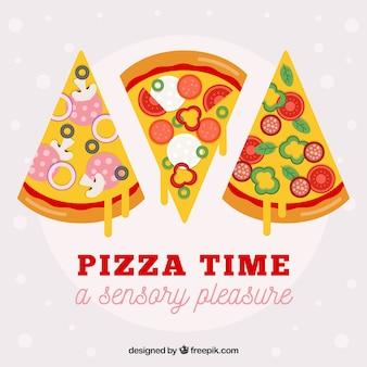 Fond de tranches de pizza au fromage