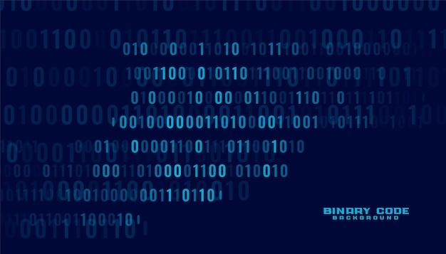 Fond de transfert de données numériques de code binaire de technologie