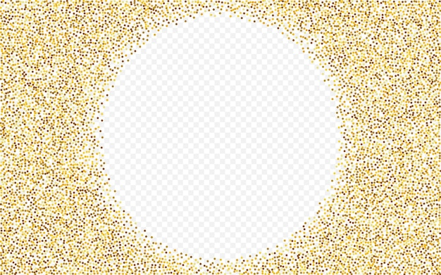 Fond transparent brillant de confettis dorés