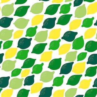 Fond transparent avec des citrons sur blanc