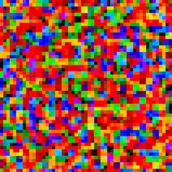 Fond transparent coloré avec pixels chaotiques