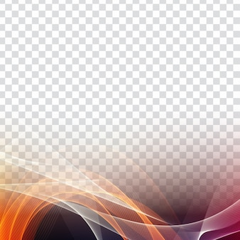 Fond transparent élégant abstrait coloré