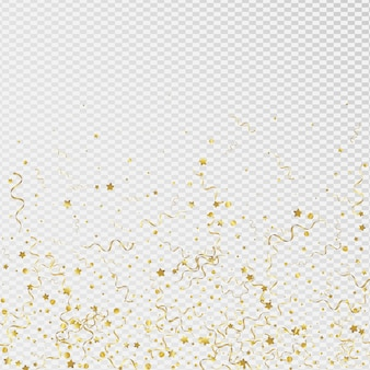 Fond transparent festif ruban jaune